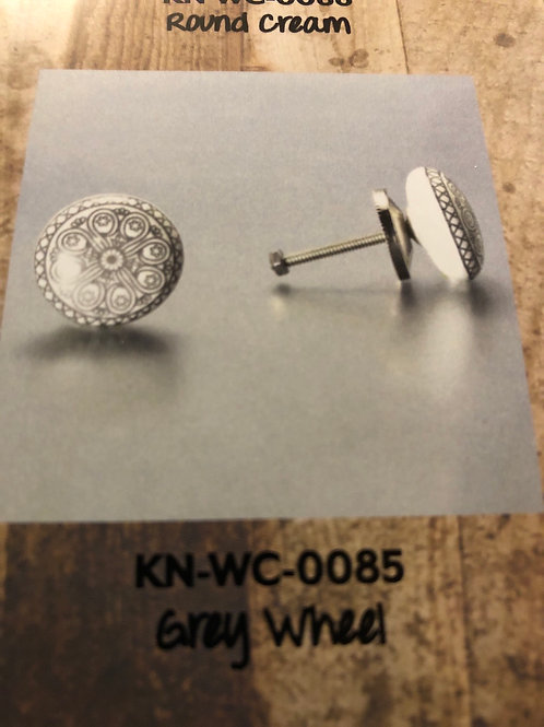 Grey Wheel Knob KN-WC-0085