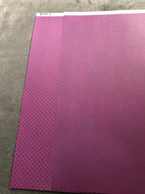 """12"""" Boysenberry Dot BoBunny Paper"""