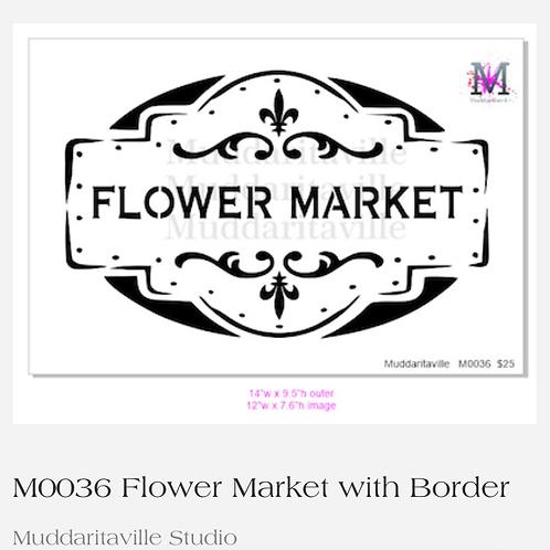 """M0036 Flower Market 14""""x9.5"""""""