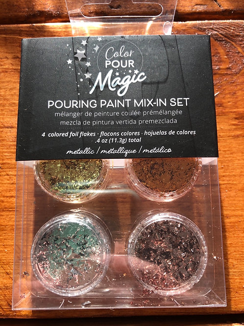 Pouring Paint Mix-In Set Metallic 359812