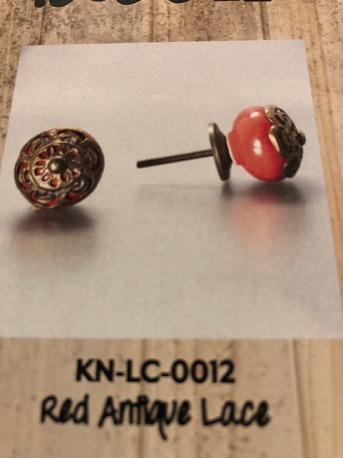 Red Antique Lace Knob KN-LC-0012