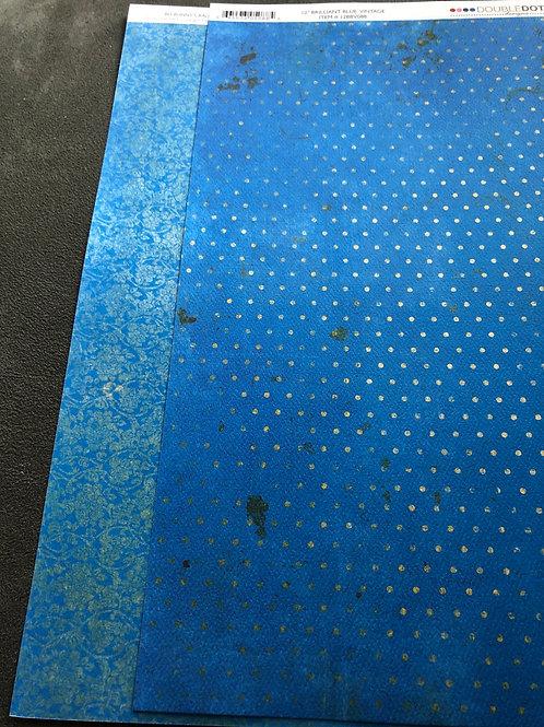 "12"" Brilliant Blue Vintage BoBunny Paper"