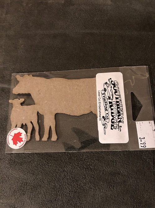 Cow Calf Pair Chipboard