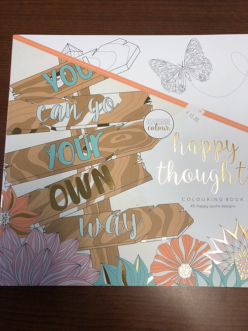 Happy Thoughts Colouring Book