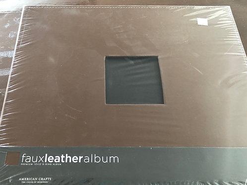 Brown Faux Leather 12x12 Album