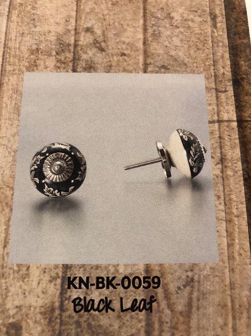 Black Leaf Knob KN-BK-0059