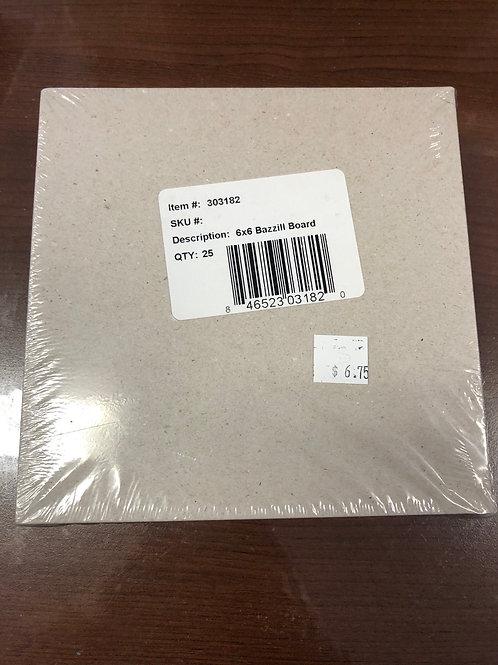 303182- 6x6 Bazzill Board Qty 25