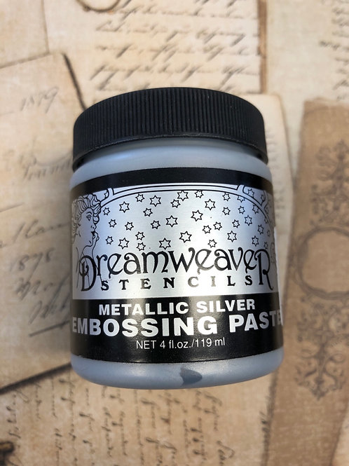 Metallic Silver Embossing Paste