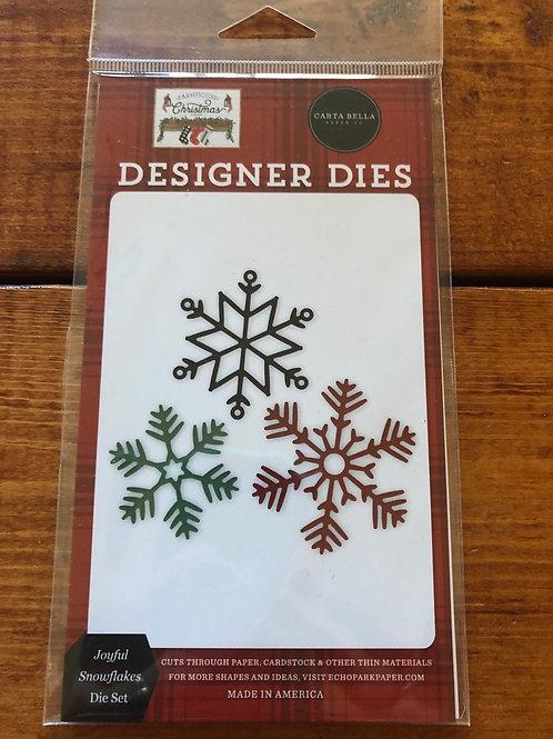 CBFAC123041 Joyful Snowflakes Die