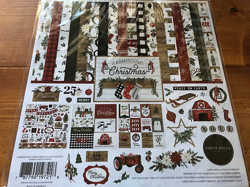 CBFAC123016 Farmhouse Christmas Paper Pack