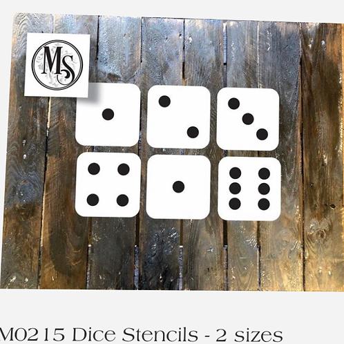"Dice Stencil Set Large 5.5"""