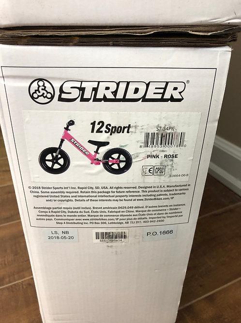 Pink Sport Strider Bike