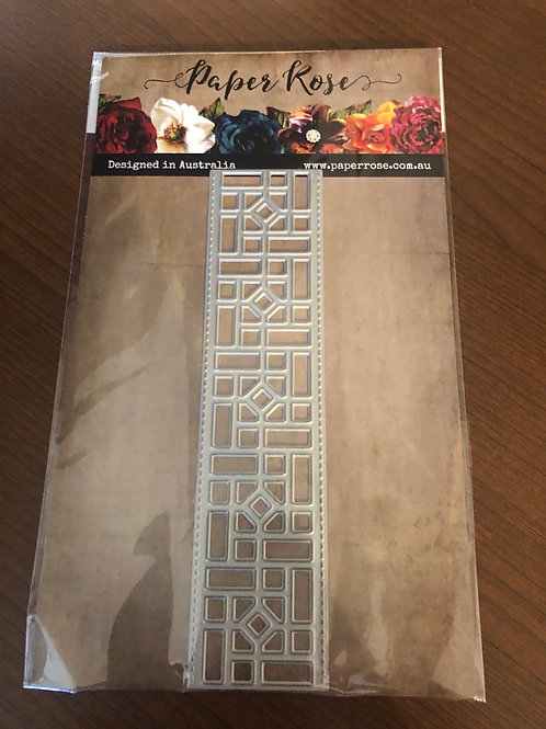 18530 - Stained Glass Border Die