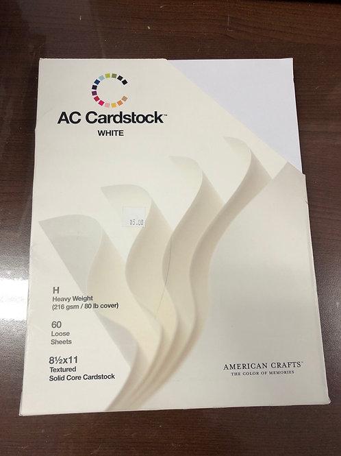 AC Cardstock White 8.5x11 Textured