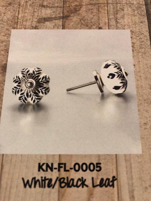 White/Black Leaf KN-FL-0005