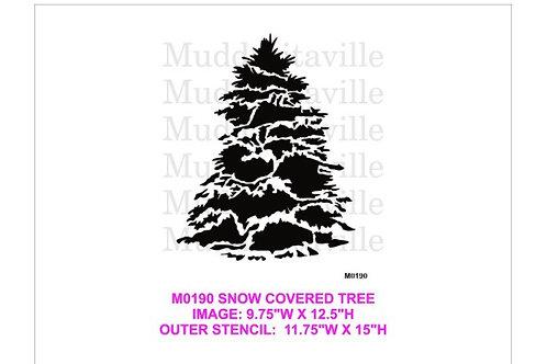 M0190 Snow Covered Tree