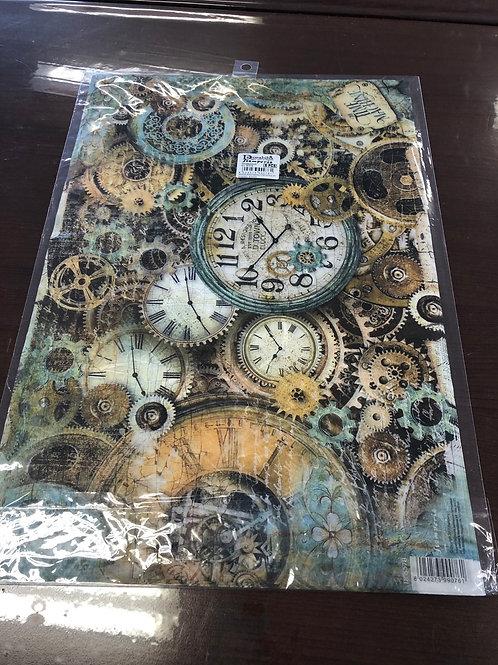 "1 Sheet Time Machine Rice Paper 19"" x 13"""