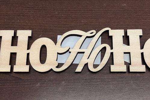 17cm Laser Cut HoHoHo
