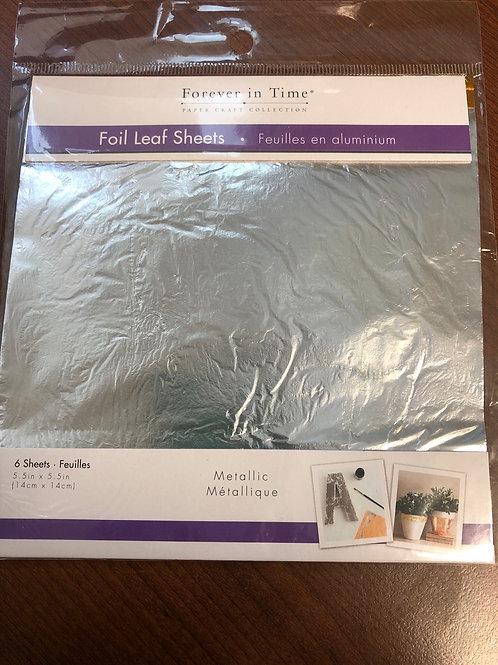 SE500B Silver Foil Leaf Sheets