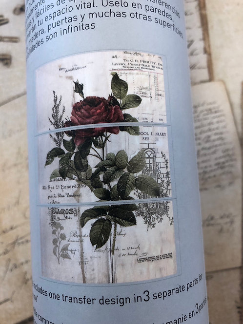 "Botanical Rose Transfer 24"" x 34"""