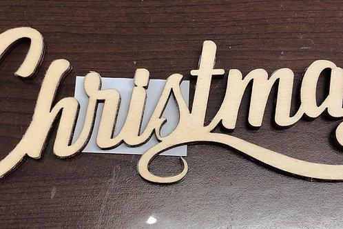 16cm Laser Cut Wooden Christmas