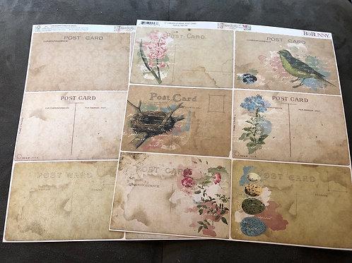 """12"""" Post Card BoBunny Garden Journal Collection 17601793"""