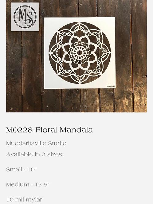 M0228 Floral Mandala Medium