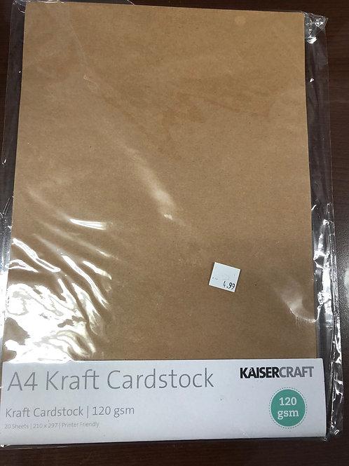 A4 Kraft Cardstock  20 Sheets