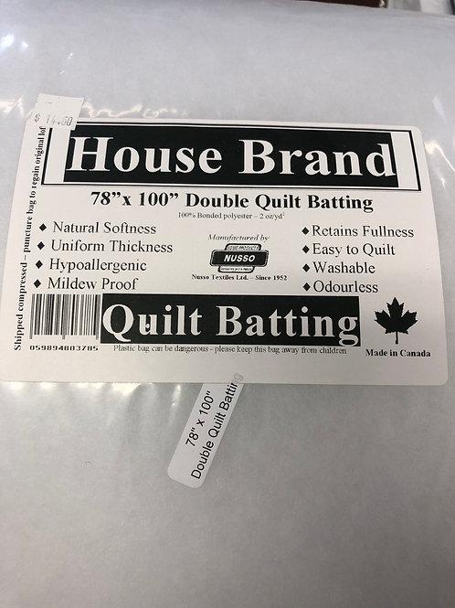 "Quilt Batting 78""x100"""