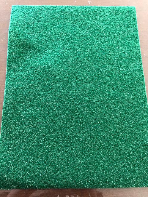 Green Glitter Felt