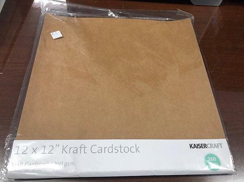 12x12 Kraft Cardstock 20sheets