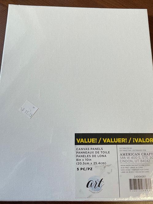 Canvas Panels 8 x 10 (5 pieces)