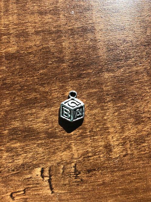 Alphabet Block Charm 1cm