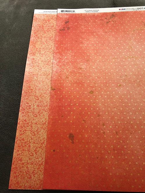 """12"""" Coral Vintage BoBunny Paper"""