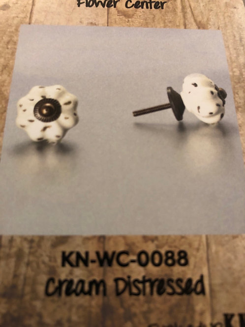 Cream Distressed Knob KN-WC-0088