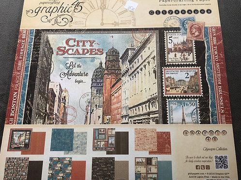 Graphic 45 CityScapes Paper Pad