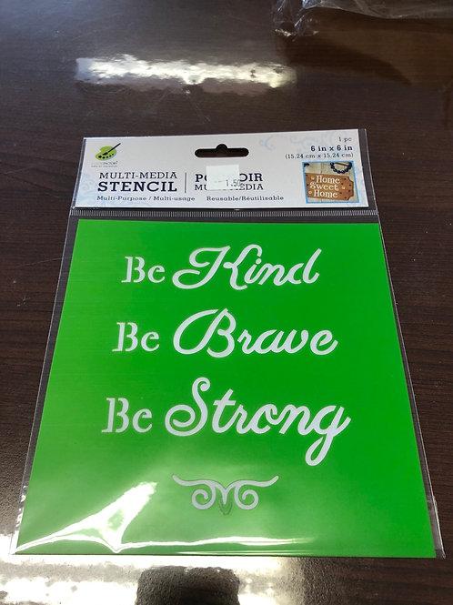 Be Kind Stencil