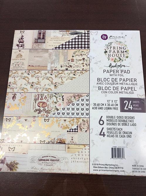 Spring Farm House Paper Pad