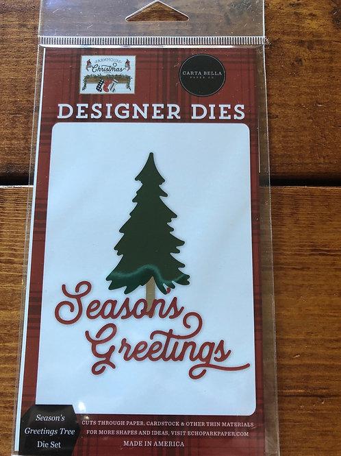 CBFAC123043 Seasons Greetings Tree Die