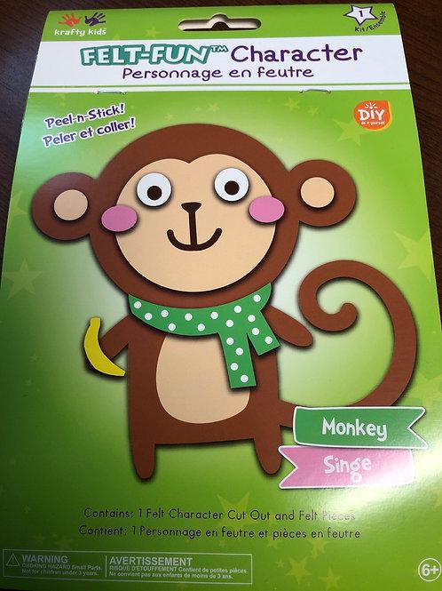 CK175B Felt Fun Character Monkey
