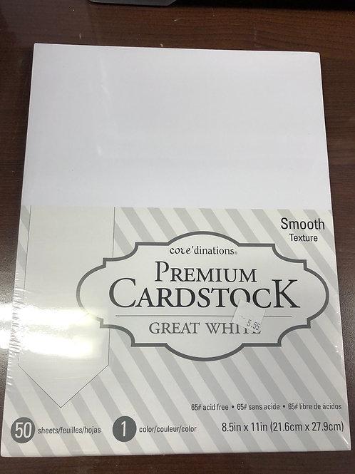 50 Sheets 8.5x11 Premium Cardstock Textured #65