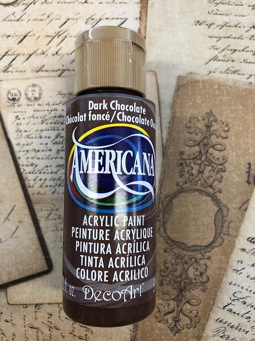 Acrylic Paint Dark Chocolate