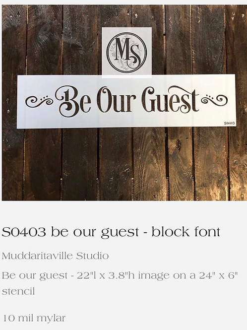 S0403 Be Our Guest