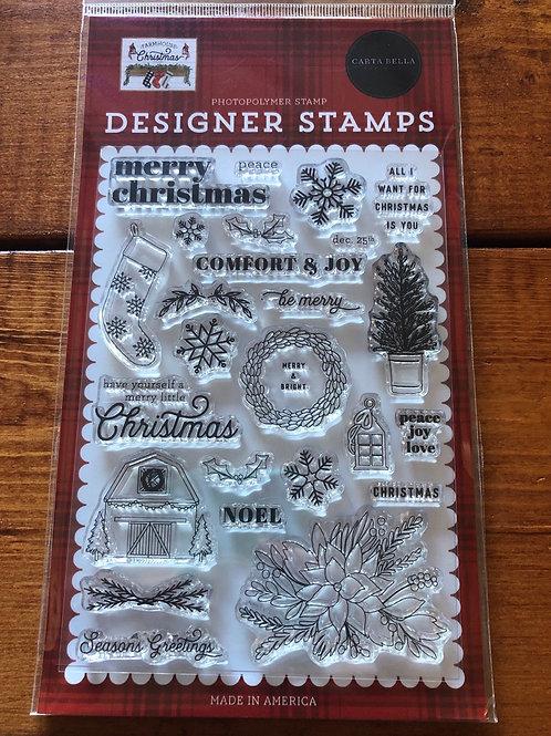 CBFAC123044 Farmhouse Christmas Stamp