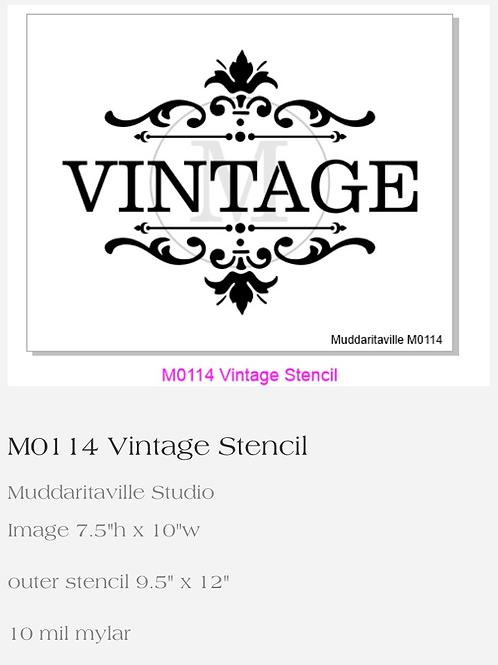 M0114 Vintage Stencil