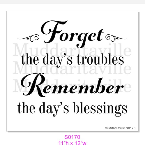 S0170 Forget Today's Troubles
