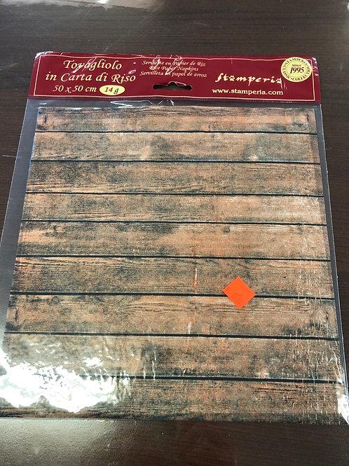 50cm x 50cm Brown Woodgrain Rice Paper