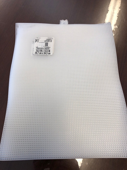 10.5 x 13.5 plastic canvas clear