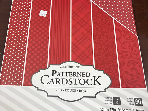 Patterned Cardstock Red 60 Sheets