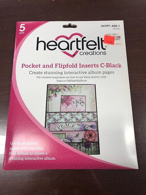 Heartfelt Pocket and Flipfold C Black